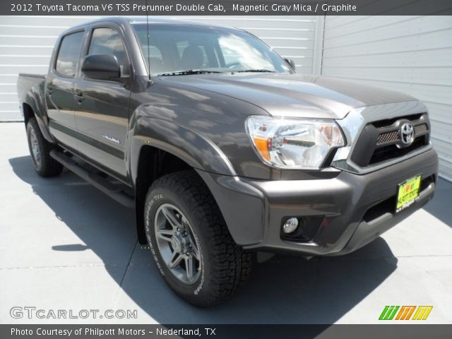 magnetic gray mica 2012 toyota tacoma v6 tss prerunner double cab graphite interior. Black Bedroom Furniture Sets. Home Design Ideas