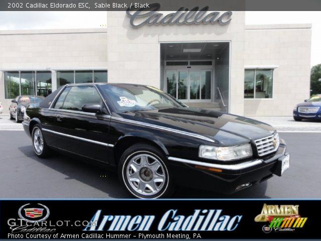 Sable Black 2002 Cadillac Eldorado Esc Black Interior Vehicle Archive 68707214