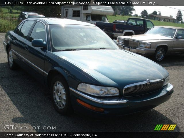 majestic teal metallic 1997 buick park avenue ultra supercharged sedan medium gray interior. Black Bedroom Furniture Sets. Home Design Ideas