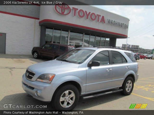 ice blue 2006 kia sorento lx 4x4 gray interior. Black Bedroom Furniture Sets. Home Design Ideas