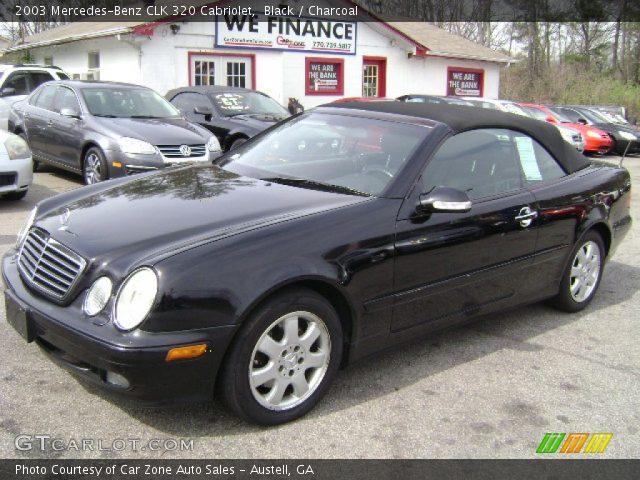 Black 2003 mercedes benz clk 320 cabriolet charcoal for 2003 mercedes benz clk 320