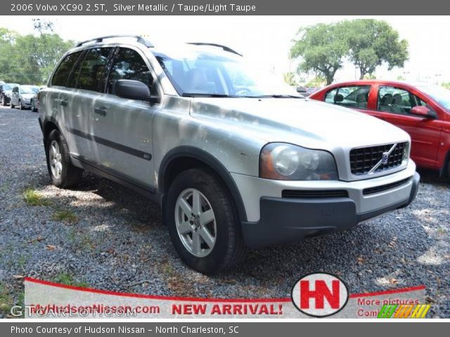 silver metallic 2006 volvo xc90 2 5t taupe light taupe interior vehicle. Black Bedroom Furniture Sets. Home Design Ideas