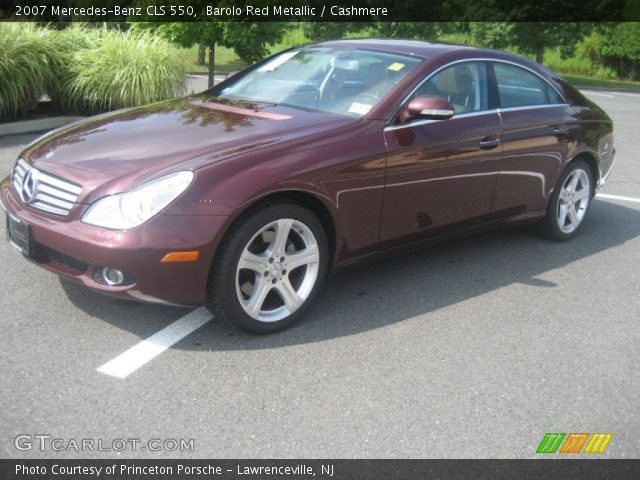 Barolo red metallic 2007 mercedes benz cls 550 for 2007 mercedes benz cl 550