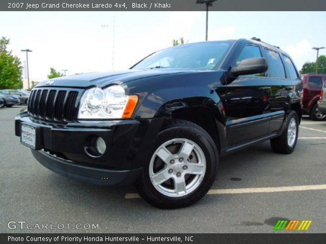 black 2007 jeep grand cherokee laredo 4x4 khaki interior vehicle archive. Black Bedroom Furniture Sets. Home Design Ideas