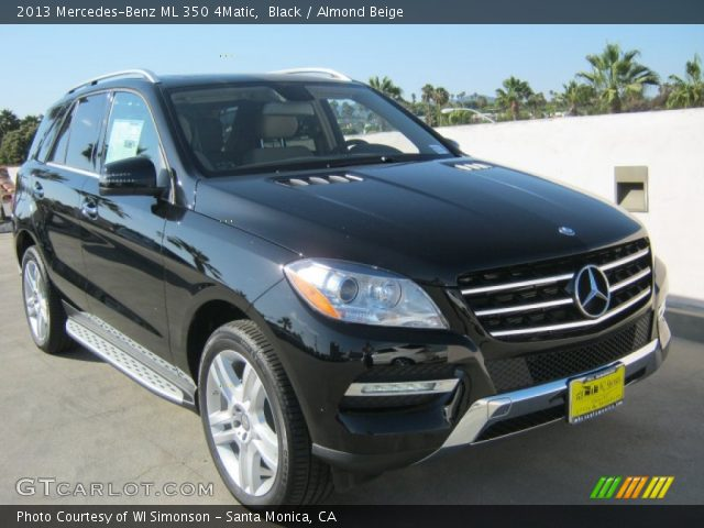 Black 2013 mercedes benz ml 350 4matic almond beige for Mercedes benz 350 ml 2013