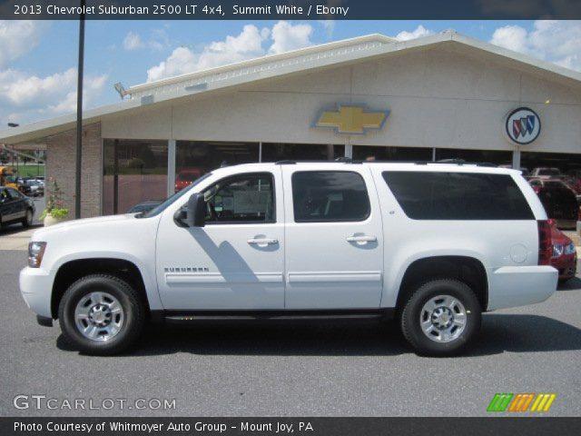 summit white 2013 chevrolet suburban 2500 lt 4x4 ebony interior vehicle. Black Bedroom Furniture Sets. Home Design Ideas