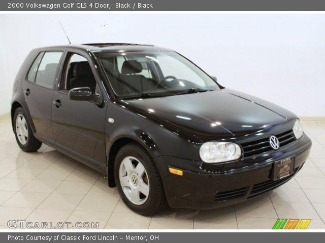 2000 Volkswagen Golf GLS 4 Door in Black