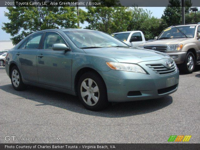 aloe green metallic 2008 toyota camry le bisque interior vehicle archive. Black Bedroom Furniture Sets. Home Design Ideas