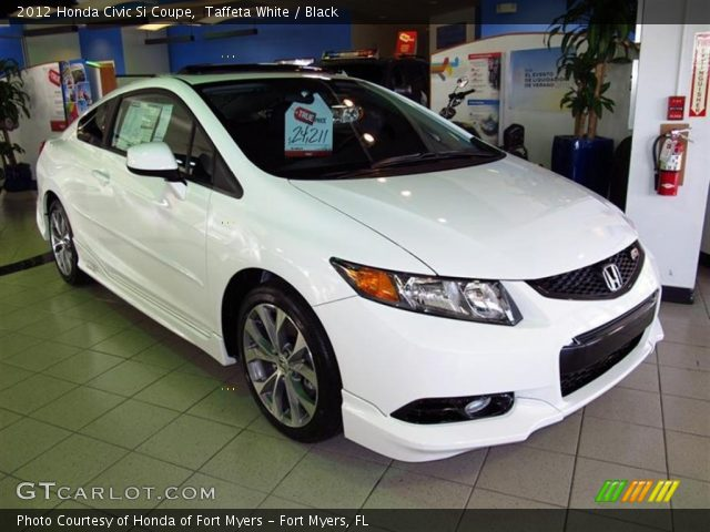 Taffeta white 2012 honda civic si coupe black interior for 2012 honda civic white