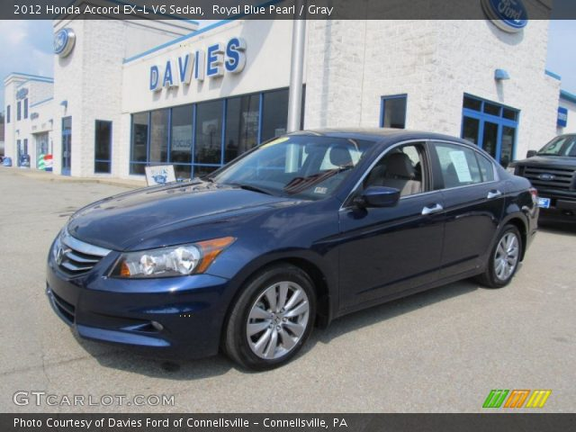 2012 Honda Accord EX-L V6 Sedan in Royal Blue Pearl