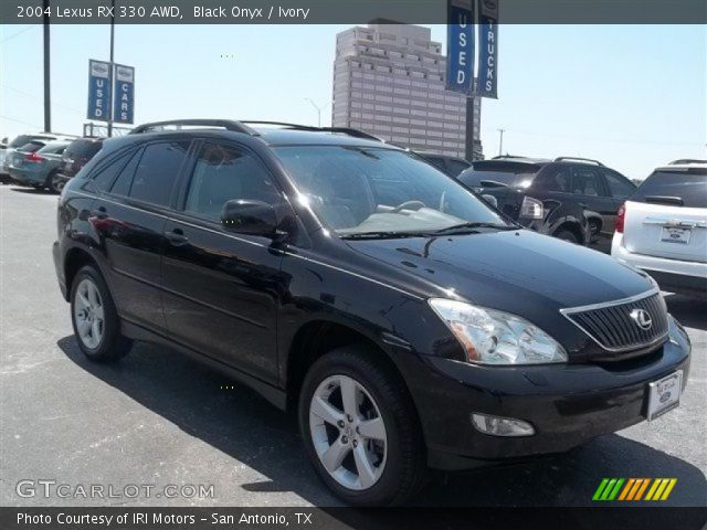 black onyx 2004 lexus rx 330 awd ivory interior. Black Bedroom Furniture Sets. Home Design Ideas