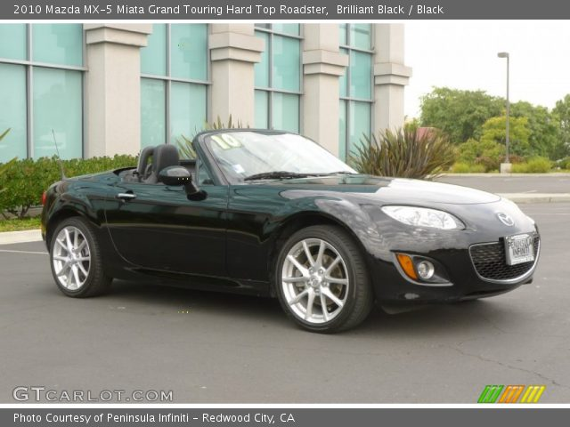 brilliant black 2010 mazda mx 5 miata grand touring hard. Black Bedroom Furniture Sets. Home Design Ideas