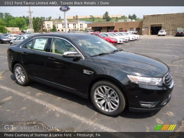 tuxedo black metallic 2013 ford taurus limited awd dune interior vehicle. Black Bedroom Furniture Sets. Home Design Ideas