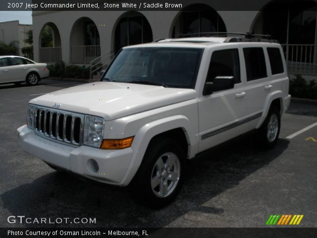 stone white 2007 jeep commander limited saddle brown. Black Bedroom Furniture Sets. Home Design Ideas