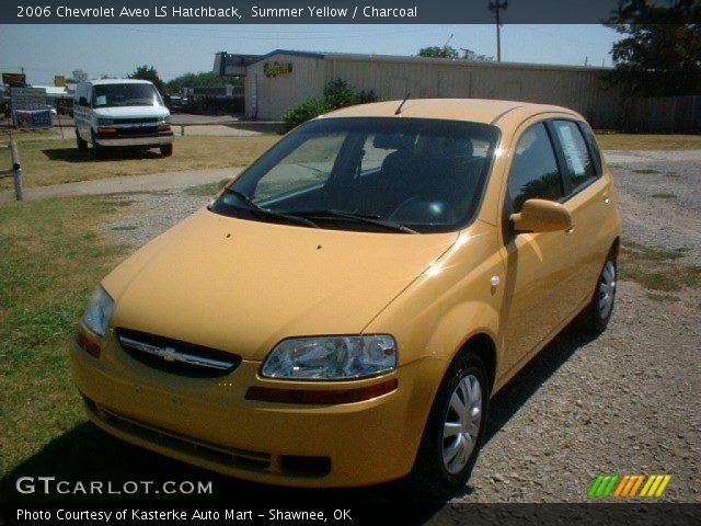 summer yellow 2006 chevrolet aveo ls hatchback. Black Bedroom Furniture Sets. Home Design Ideas