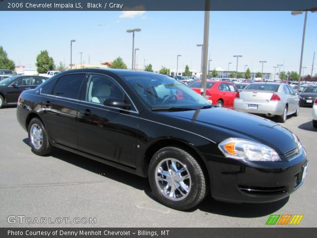 black 2006 chevrolet impala ls gray interior. Black Bedroom Furniture Sets. Home Design Ideas
