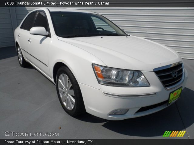 powder white pearl 2009 hyundai sonata limited camel. Black Bedroom Furniture Sets. Home Design Ideas