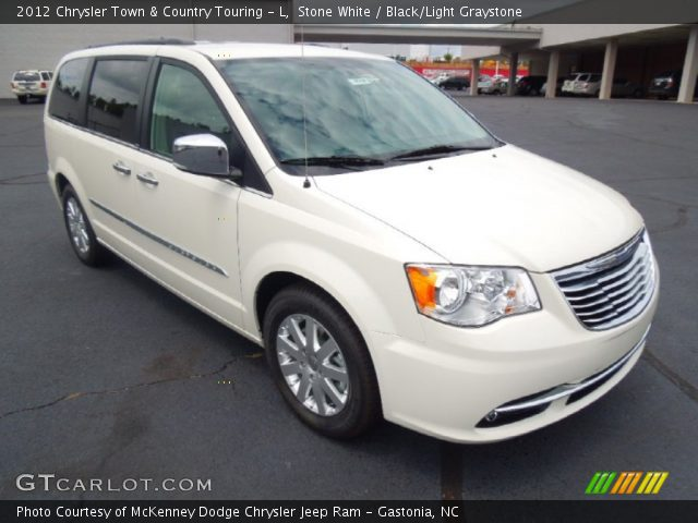 stone white 2012 chrysler town country touring l black light graystone interior. Black Bedroom Furniture Sets. Home Design Ideas