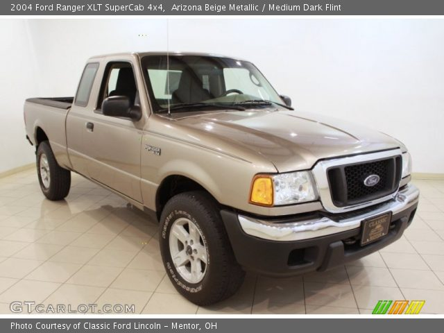 arizona beige metallic 2004 ford ranger xlt supercab 4x4 medium dark flint interior. Black Bedroom Furniture Sets. Home Design Ideas