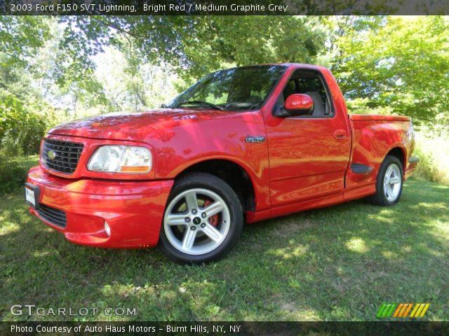 2003 Ford F150 SVT Lightning in Bright Red