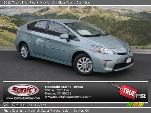 2012 Toyota Prius Plug-in Hybrid in Sea Glass Pearl
