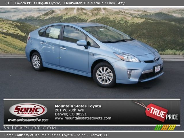 2012 Toyota Prius Plug-in Hybrid in Clearwater Blue Metallic