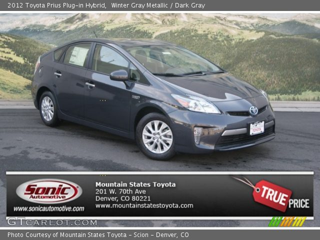 2012 Toyota Prius Plug-in Hybrid in Winter Gray Metallic