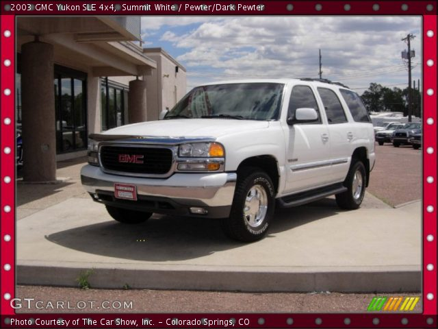 2003 GMC Yukon SLE 4x4 in Summit White