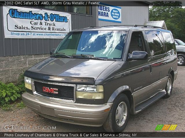 storm gray metallic 2002 gmc safari slt awd pewter. Black Bedroom Furniture Sets. Home Design Ideas