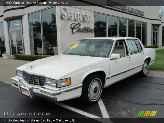 1992 Cadillac DeVille Sedan in White
