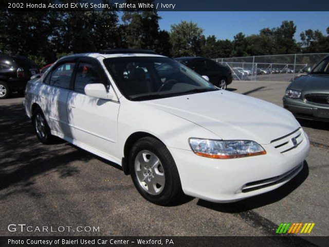 taffeta white 2002 honda accord ex v6 sedan ivory interior vehicle archive. Black Bedroom Furniture Sets. Home Design Ideas