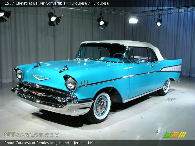 Turquoise 1957 Chevrolet Bel Air Convertible Turquoise