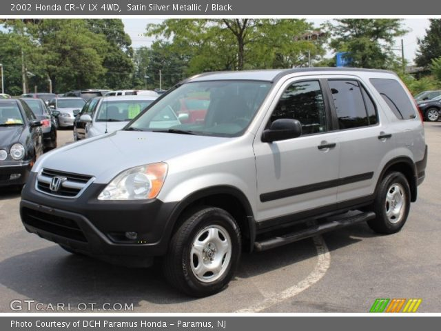 satin silver metallic 2002 honda cr v lx 4wd black