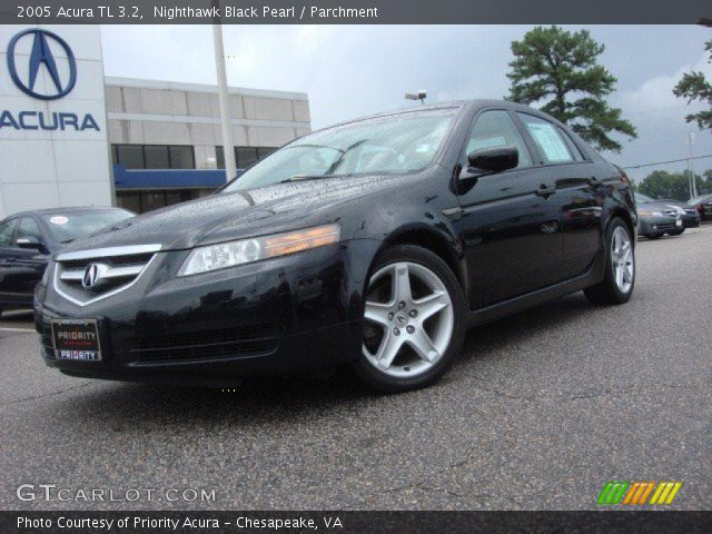 nighthawk black pearl 2005 acura tl 3 2 parchment. Black Bedroom Furniture Sets. Home Design Ideas