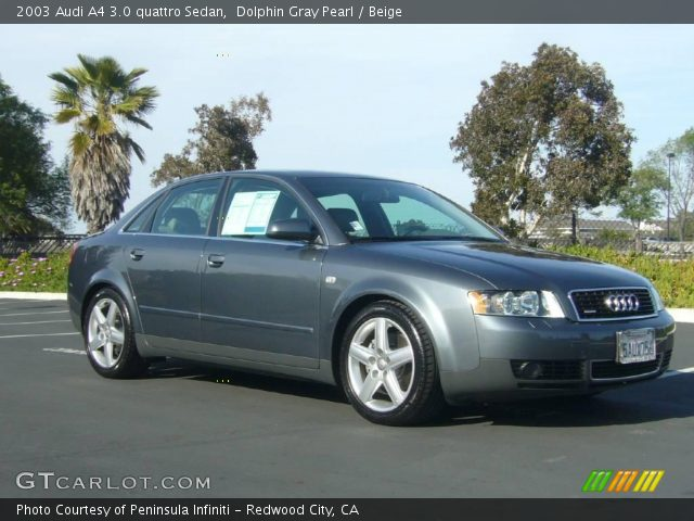 2003 Audi A4 3.0 quattro Sedan in Dolphin Gray Pearl. Click to see ...