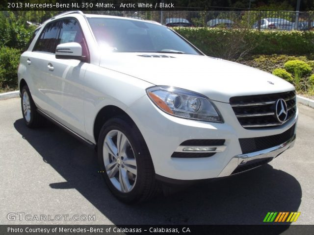 Arctic white 2013 mercedes benz ml 350 4matic black for Mercedes benz 350 ml 2013