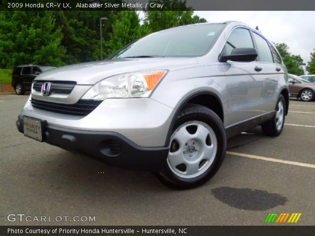 alabaster silver metallic 2009 honda cr v lx gray interior vehicle archive. Black Bedroom Furniture Sets. Home Design Ideas