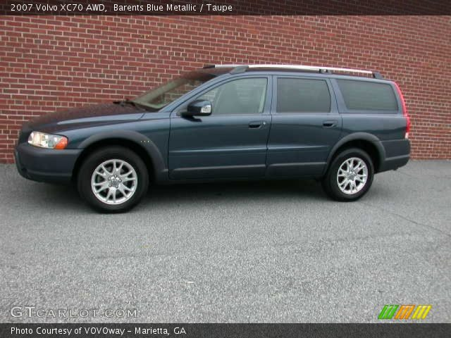 barents blue metallic 2007 volvo xc70 awd taupe interior vehicle archive. Black Bedroom Furniture Sets. Home Design Ideas