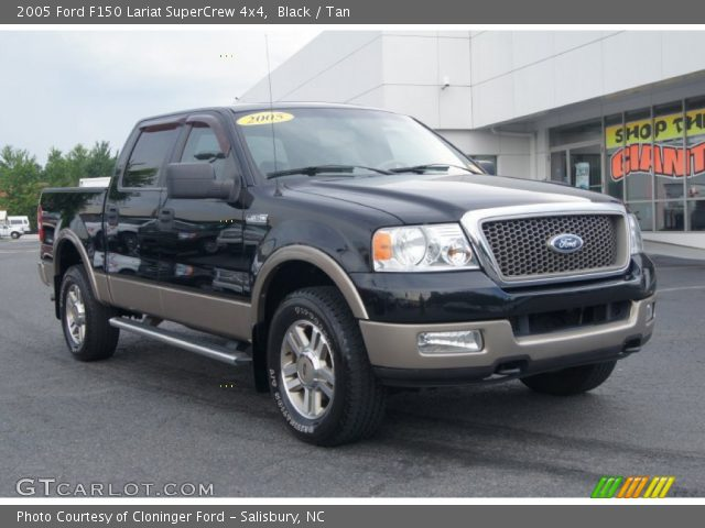 2005 ford f150 lariat supercrew 4x4 in black click to see large photo. Black Bedroom Furniture Sets. Home Design Ideas