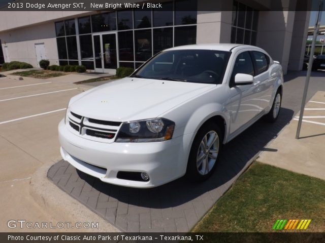 new bright white 2013 dodge avenger sxt black interior. Black Bedroom Furniture Sets. Home Design Ideas