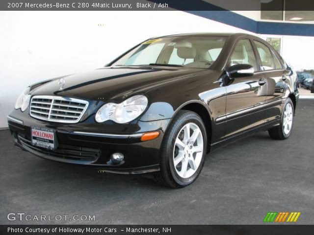 Black 2007 mercedes benz c 280 4matic luxury ash for 2007 mercedes benz 280