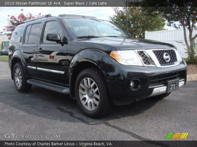 super black 2010 nissan pathfinder le 4x4 cafe latte. Black Bedroom Furniture Sets. Home Design Ideas