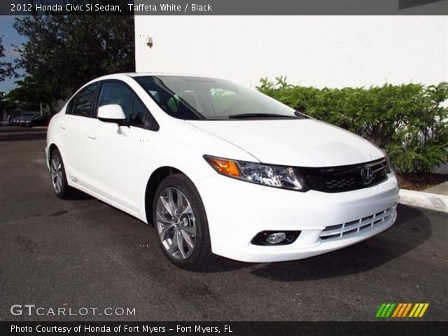 Taffeta white 2012 honda civic si sedan black interior for 2012 honda civic white