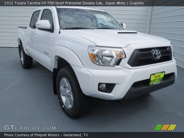 super white 2012 toyota tacoma v6 trd sport prerunner double cab graphite interior. Black Bedroom Furniture Sets. Home Design Ideas