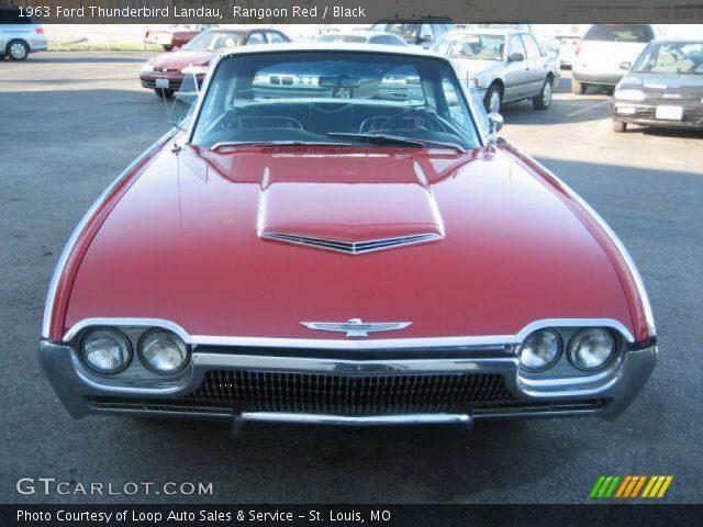 Rangoon Red - 1963 Ford Thunderbird Landau - Black Interior | GTcarlot .
