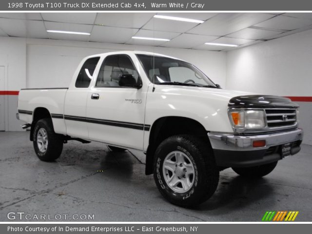 Warm White 1998 Toyota T100 Truck Dx Extended Cab 4x4 Gray