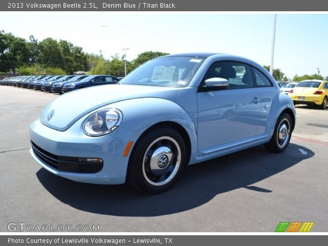 denim blue 2013 volkswagen beetle 2 5l titan black. Black Bedroom Furniture Sets. Home Design Ideas