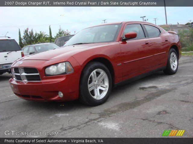 Inferno Red Crystal Pearl 2007 Dodge Charger R T Dark
