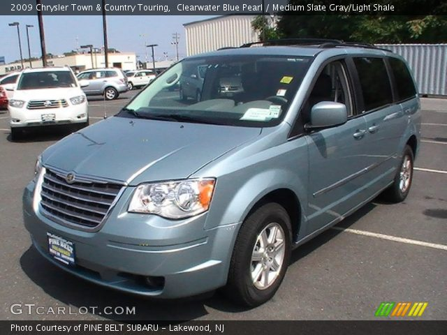 clearwater blue pearl 2009 chrysler town country touring medium slate gray light shale. Black Bedroom Furniture Sets. Home Design Ideas