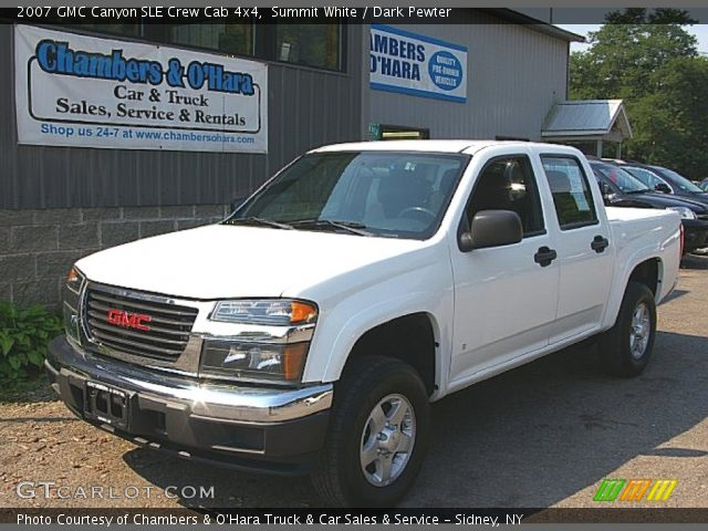 summit white 2007 gmc canyon sle crew cab 4x4 dark. Black Bedroom Furniture Sets. Home Design Ideas